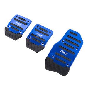 Blue Non-Slip Manual MT Gas Brake Foot Pedal Pad Cover Mat Car Accelerator