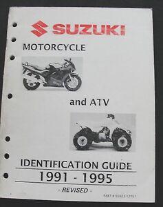 1991-95 Suzuki Moto & Atv GSX-R750 1100 1400 Identificación Guía Manual