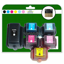 Any 6 Ink Cartridges for HP C6188 C6200 C6240 C6288 C7100 non-OEM 363