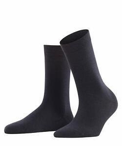 FALKE Women's Softmerino Socks Merino Wool Cotton Navy Size 2.5-3.5