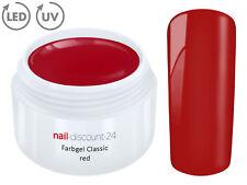 Color UV Gel LED FARBGEL RED French Modellage Nail Art Design Nagel Rot Tips
