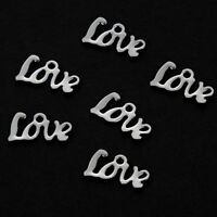 20Pcs Silver Stainless Steel Letters LOVE Charms Pendant DIY Jewelry Accessory