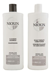 Nioxin System 1 Cleanser & Scalp Therapy Conditioner 33.8 oz. Hair Care Set