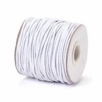 100m/Roll 1mm Stretch Elastic Cords Rubber Inside Round Thread String White 1mm