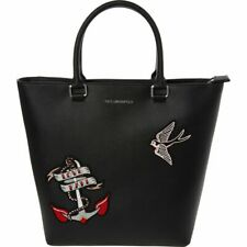 Karl Lagerfeld Black Shopper Tote Bag