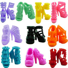 Certain 10 Pairs Shoes Summer High Heels Sandal Accessories For Barbie Doll Gift