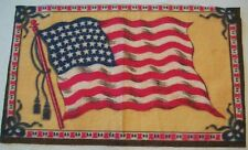"1900'sl Antique 48 Star American U.S.A Flag Tobacco Felt 8 1/2"" X 5 3/16"""