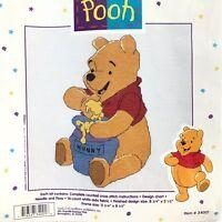 Vintage 90s Counted Cross Stitch Kit Winnie the Pooh Hunny Pot Bear