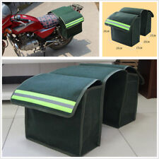 2Pcs Universal Motorcycle ATV Saddle Bags Luggage Pannier Canvas Helmet Tank Bag