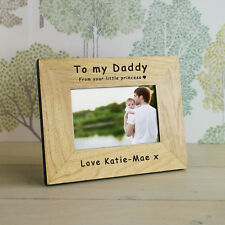 Your Little Princess Wood Photo Frame 6x4 Personalised Engraved Gift Present Portrait