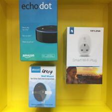 BLACK Amazon Echo Dot+TP-Link HS100 Smart Plug+Wall Mount 2nd Gen Alexa Speaker