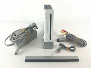 Nintendo Wii Console Bundle White Set Up + Wires | Good Condition Tested A4