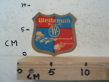 WEIHRAUCH SPORT HWM GUNS REVOLVER IRON TRANSFERS PATCHES,STRIJK EMBLEEM ?
