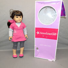 """American Girl Doll 18"""" Tall Long Brown Hair Brown Eyes 2008"""