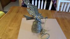 Rare Ornate Brass Bell Original Hanger Wall Mount Pull Chain Angel and Dragon #2