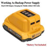 For Dewalt DCB090 Lithium Battery USB Power Source Charger Adapter 10.8V 14.4V