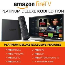 AMAZON FIRE 4K TV BOX KODI 17.1 PLATINUM , MOVIES,TV SHOWS, SPORTS, KIDS,