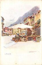 1802) IL MERCATO A LECCO, BANCARELLE. ILLUSTRATORE  J.J. REDMO.