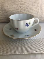 Arabia of Finland Unique Tea Cup and Saucer # 86  And # 63 Pre Owned