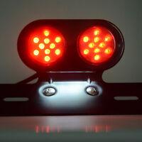 Moto Clignotant Arrière LED Lumière Feux Arrête Indicateur Lampe Scooter Chopper