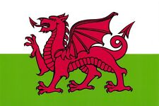 POSTCARD National Flag of Wales, Cymru, The Red Dragon, Matt Matte Finish D98