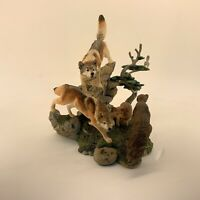 Danbury Mint, Nick Bibby, The Hunt from Spirit of the Wolf Sculpture Collect