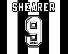 No 9 Shearer 1996-1997 Newcastle United Home Football Nameset for shirt