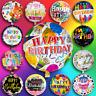 HAPPY BIRTHDAY Helium Ballon Folienballon Kinder Geburtstag Zahl Geburt Ø45cm