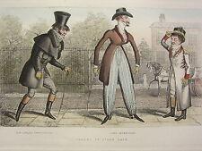 1892 Hand Farbiger Druck ~ Dandiesw Lumley Skeffington Lord Petersham