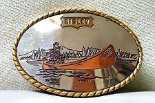 """""""SISLEY"""" FIBBIA ACCIAIO OVALE (6.8x9.3) CON LA CANOA VINTAGE ANNI 80 (PANINARO)"""