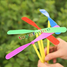 24Pcs Plastic Dragonfly Mini Whirl A Copter Helicopter Birthday Party Toy Favors