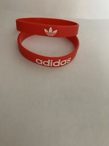 Adidas Sport Baller Band Silicone Red w/White logo