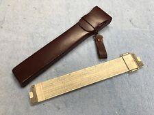 Vintage POST Versalog 1460 Hemmi Bamboo Slide Rule w/Leather Case Japan EX Cond.