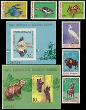 Mint Never Hinged/MNH Birds Romanian Stamps