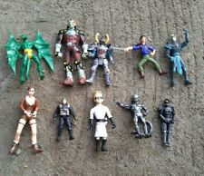Lot of 10 Action Figures, Vintage 90's DC Comics Marvel Dragon Ball Z and More