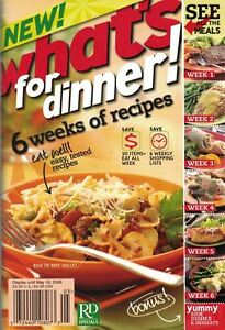 RD Specials WHAT'S FOR DINNER 6 Weeks of Recipes Cookbook 2006