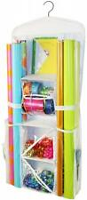 Gift Wrap Paper Organizer Hanging Closet Bows Cards Scissors Tape Holds 12 New