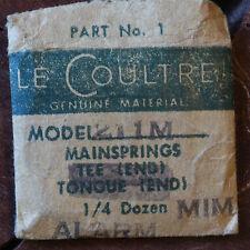 Jaeger Lecoultre clock original 211M alarm mainspring vintage Lecoultre MIM