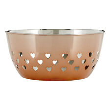 Stainless Steel Rose Gold Bowl Hearts Design Kitchen Dining Table Decoration New