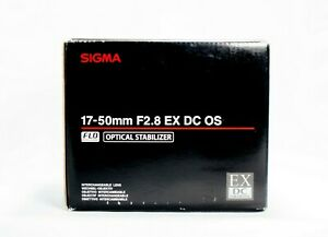 Sigma Zoom Lens 17-50mm F2.8 EX DC OS HSM for Canon Digital SLR Excellent Cond