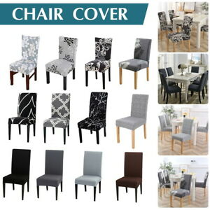 Stretch Dining Chair Covers Slipcover Spandex Wedding Cover 1/4/6/8Pcs Removable