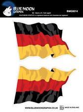 BLUE MOON Motorcycle Bike Quad Football Board Decal Helmet Sticker GERMANY FLAG