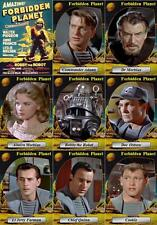 Forbidden Planet (1956) movie trading cards. Leslie Nielsen Anne Francis Sci Fi