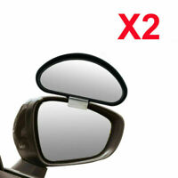 2X Car Side Blind Spot Mirror Wide Angle Rear View Driving Reversing Adjustable