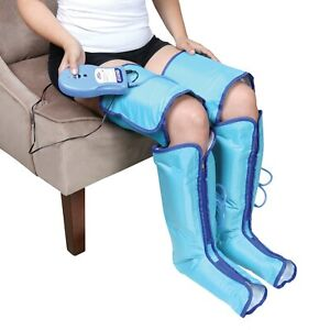 Air Compression Leg Massager Boots - Inflatable Wraps for Thighs, Legs and Feet