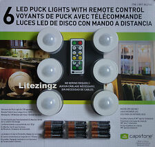 6 LED RULLO LUCI, Remote Control & Batterie Wireless Armadio Caravan CAPANNONE ETC