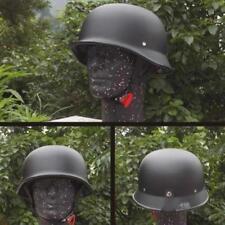 Motorcycle Helmets Unisex Retro Matte Black Half Face Car Styling Accessories