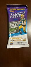 NFL Panini Prestige Football 2020 Fat Pack 30 Card Value Pack GREEN PARALLELS RC