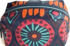 NUOVO Radley Donna Navy Top Zip Make-Up Cosmetics Borsa di pelle di olio GRATIS P&P NUOVO CON ETICHETTA