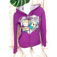 Tokidoki Hello Kitty Zip Hoodie Jacket Women Size Medium Purple